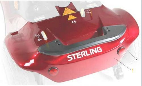 Sunrise Medical Sterling Pearl Rear Chassis Panel