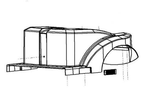 Rear Shroud For A Sunrise S400