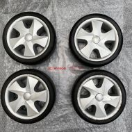 Kymco Maxi Set Of 4 Complete Solid Wheels Used