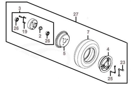 Front Wheel Assembly for Kymco Strider Midi EV10DA