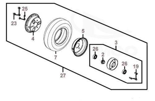 Rear Wheel Assembly for Kymco Strider Midi EV10DA