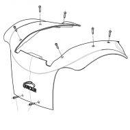 Top Shroud for Sunrise Quickie Jive M2 Powerchair
