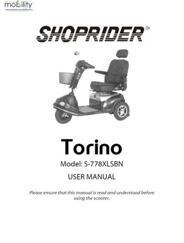 Shoprider Torino Manual