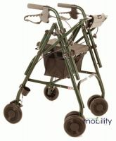 Uniscan Glider Plus Adjustable Walker Rollator