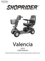 Shoprider Valencia Manual