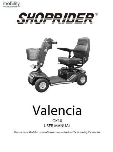 Shoprider Valencia Manual