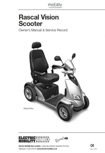 Electric Mobility Rascal Vision Manual on
