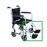 Complete Leg Rests for ZT 600 600 Transport Wheelchair