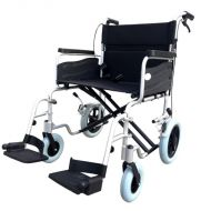 ZTec 22 Inch Seat Heavy Duty Attendant Wheelchair