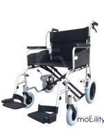 ZTec 22 Inch Seat Heavy Duty Attendant Wheelchair