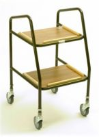Adjustable Metal Trolley Plastic Shelves