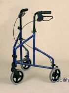 Lightweight Aluminium Tri Wheel Walker with Free basket