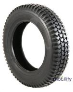 2 x Replacement 300 x 8 Infilled Block Tread Scooter Black Tyre