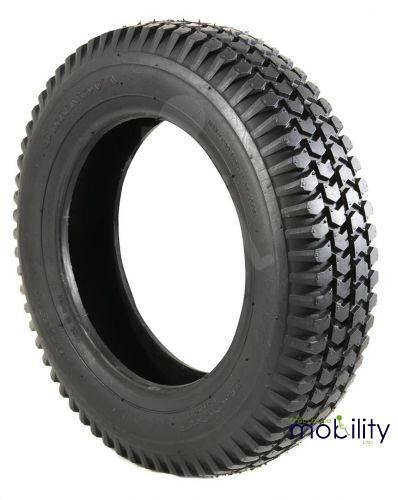 300x8 Infilled Block Tread Scooter Black Tyre
