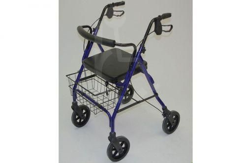 Standard 4 Wheeled Steel Bariatric Safety Walker 28.5 max user weight