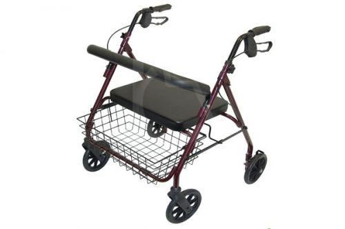 Heavy Duty 4 Wheeled Bariatric Safety Walker 50 stone max user weight