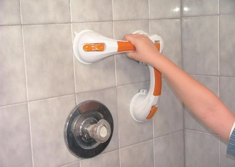 Dual rotating Suction Cup 12 Inch Grab Bar with Indicator
