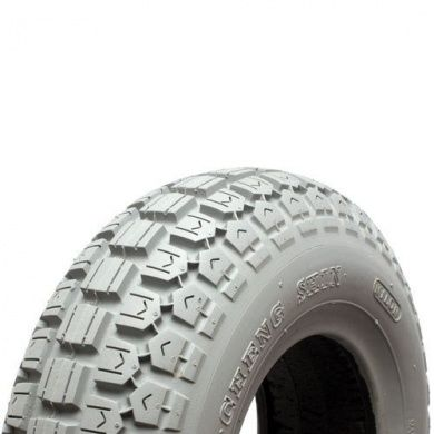 410 350 x 6 Infilled Grey Block Tread Tyre
