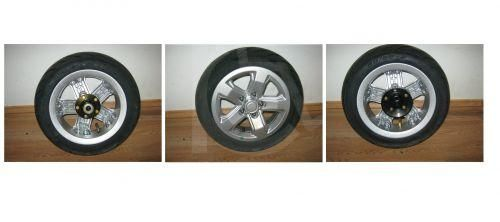 Complete Wheel Set for Kymco Maxer or Maxi XLS Mobility Scooter