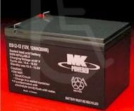 MK AGM Battery - ES12-12 - 12 Volt - 12 Ah