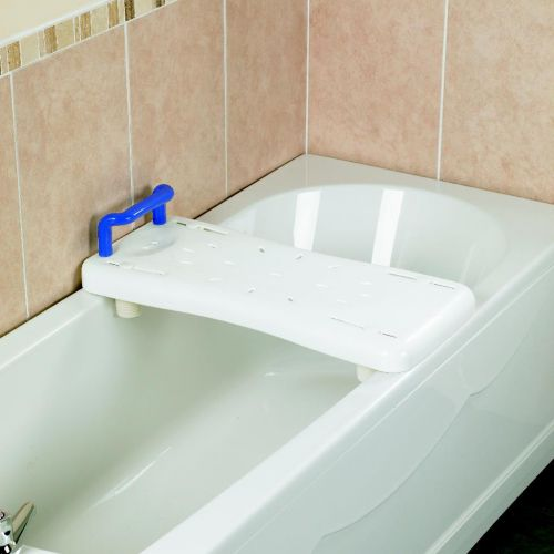 Plastic bath board with blue handle