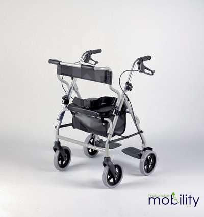 Rollator and Transit wheelchair combination