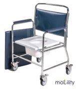 Roma Heavy Duty Mobile Commode Chair