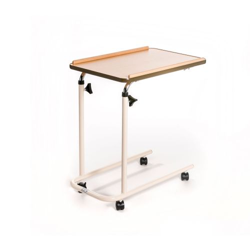 Over Bed Table with Open Base and Castors