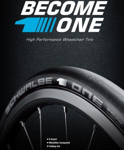 Schwalbe ONE Folding Wheelchair Tyre x 2