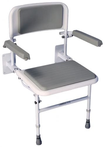 Solo Deluxe Shower Seat With Padded Back & Seat