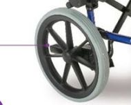 2 x Replacement Whole Complete Wheel Stowaway Wheelchair