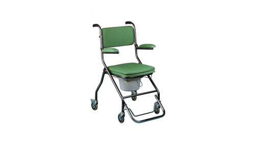 Wheeled Folding Commode with Footrest