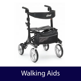 Walking Aids - Lightweight Walkers, 3 or 4 Wheeled, Walking Frames, Walking Sticks, Trolleys