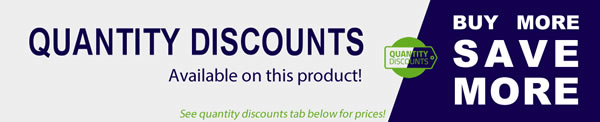 Quantity discounts available - Please see quantity discounts tab below